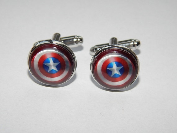 Marvels Super Hero Captain America Shield Logo Silvertone Metal TIE CLIP