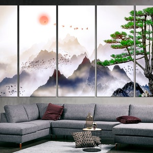 SosoJustgo2 Chinese National Treasure-Pandas Scroll Painting Hang Decorative Wall Art Hanging Artwork Home Decor Painting Wall Art for Living room Bedroom Office