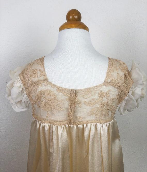 Vintage 20s 30s Baby Dress Gown Ecru Silk Charmeu… - image 7