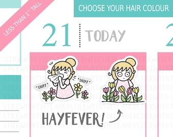 056 - Hayfever Planner Stickers, Personalised Stickers, Allergies Stickers, Health Stickers, StickWithThePlanCo,Hobonichi Stickers