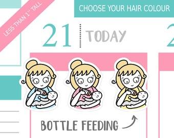 012 - Bottle Feeding Baby Planner Stickers, Personalised Stickers, Mom Life Planner Stickers, Parenting Stickers, Baby Stickers, Mum Sticker