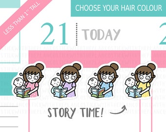 112 - Story Time Planner Stickers, Personalised Stickers, Mom Life Planner Stickers, Parenting Stickers, Baby Stickers, Mum Stickers