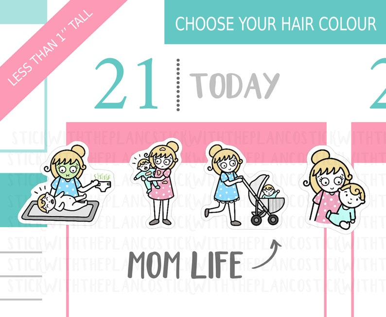 Mum Life Planner Stickers PT 1 Personalised Stickers Baby image 0