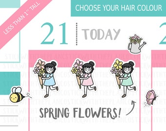 046 - Spring Flowers Planner Stickers, Personalised Stickers, Decorative Stickers, Cute Stickers, Flower Stickers, Gardening Stickers