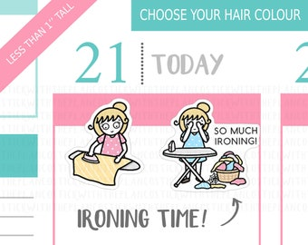 061 - Ironing Planner Stickers, Personalised Stickers, Chores Stickers, Tracker Stickers, StickWithThePlanCo, Cleaning Stickers,