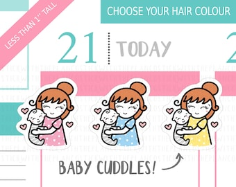 003 - Baby Cuddles Planner Stickers, Personalised Stickers, Mom Life Planner Stickers, Parenting Stickers, Baby Stickers, Mum Stickers