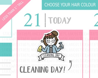 020 - Cleaning Day Planner Stickers, Personalised Stickers, Chores Stickers, Tracking Stickers, Cleaning Stickers, Hobonichi Stickers