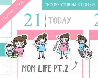 079 - Mum Life Planner Stickers PT 2, Personalised Stickers, Mom Life Planner Stickers, Parenting Stickers, Baby Stickers