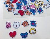 BT21 Character Face Stickers (35 Small Stickers)