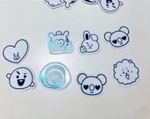 BT21 Character Foil Stickers (35 Small Stickers)