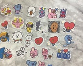 BT21 Character Stickers ( 25 Small Stickers)