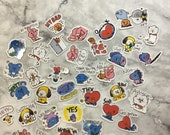 BT21 Character Stickers (40 Small Stickers)