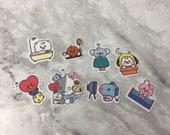 BT21 Character Small Baby Themed Stickers (48 Small Stickers)