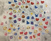 "BT21 Character Tiny ""Emoji Style"" Stickers (80 Small Stickers)"
