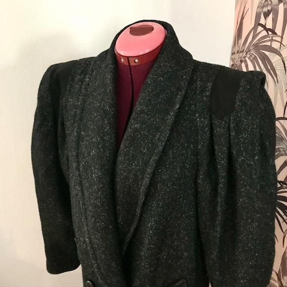 Salt N Pepper BIZZNESS 1980s Wool Coat
