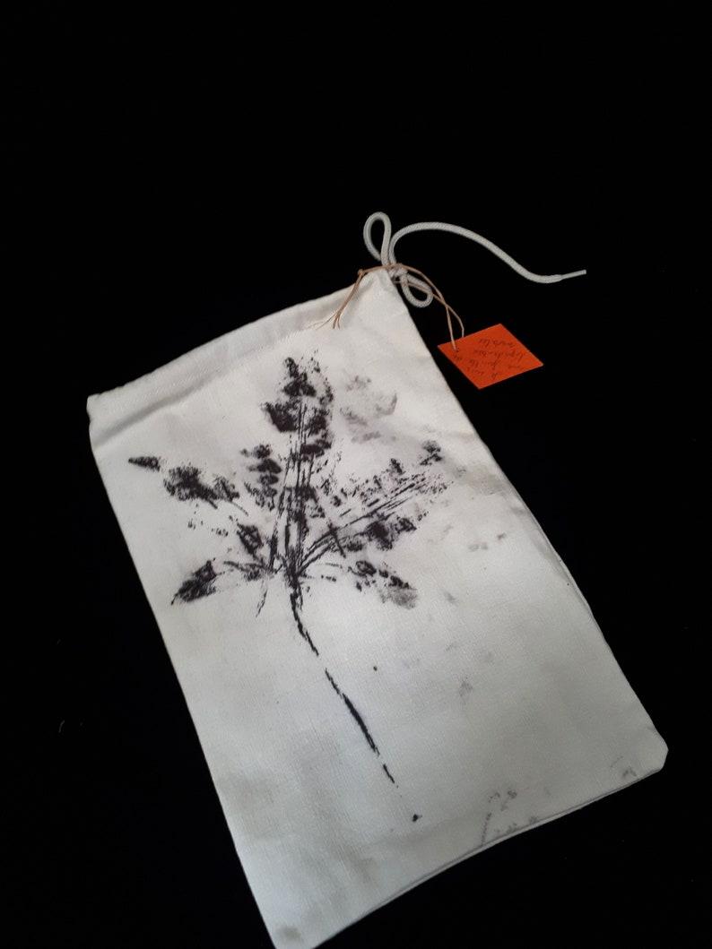 Bulk bag natural leaf dye print