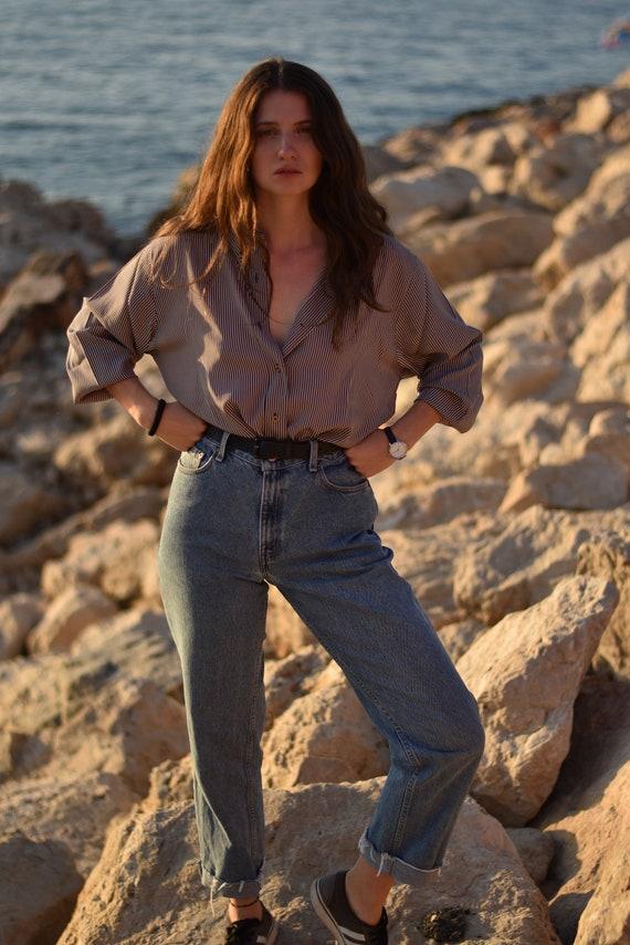 Rare chemise Cacharel vintage à rayures