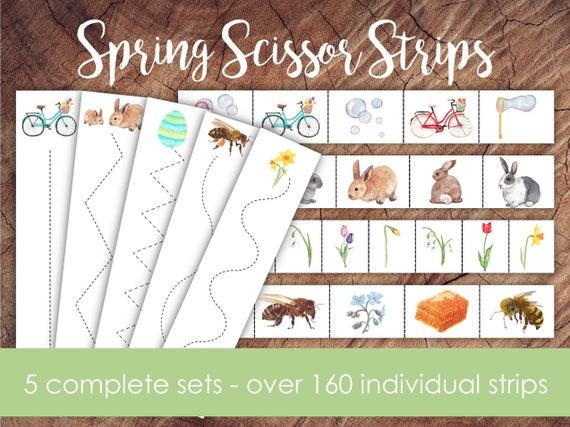 Spring Scissor Strips Bundle Cutting Strips Preschool