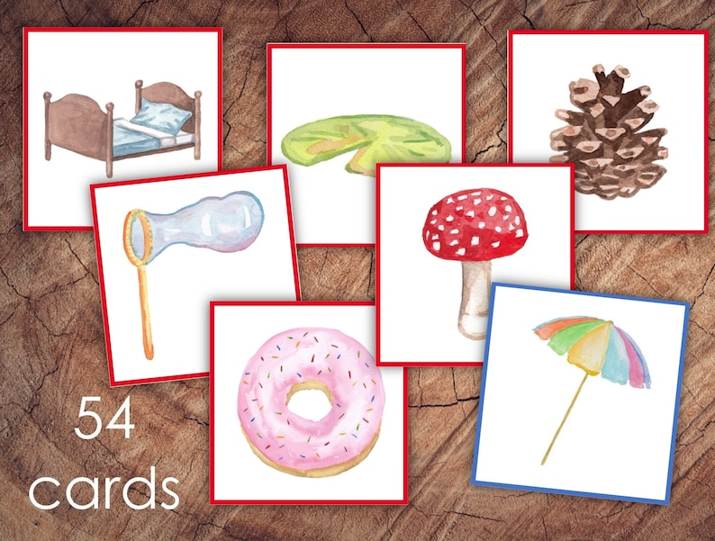 Preschool Letter Sounds Picture Matching Cards EXTENSION SET