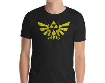 5d1665db7 Legend Of Zelda Triforce Inspired Unisex T-Shirt, Zelda Cosplay, Distressed Zelda  Shirt, Video Game, Gamer Gifts, Link Cosplay, Link Costume