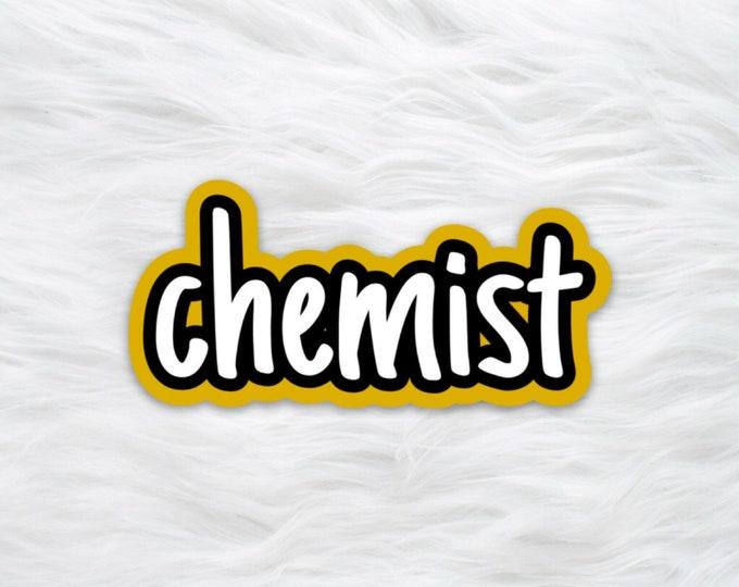 Chemist science water bottle sticker / laptop decal