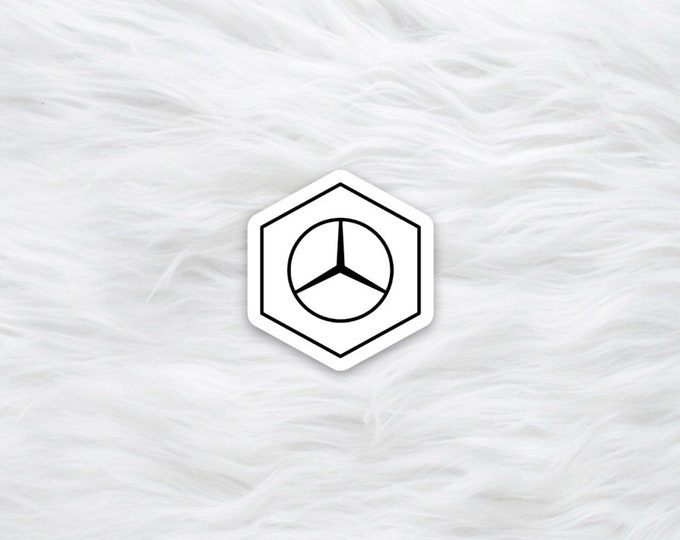 Mercedes Benzene science sticker / laptop decal