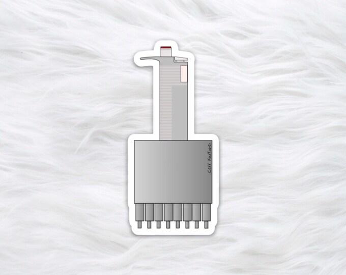 Multichannel Pipette science sticker / laptop decal