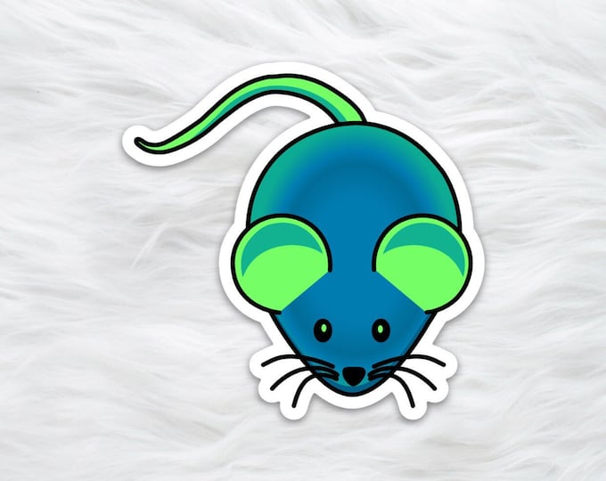 GFP Mouse science sticker / laptop decal