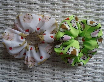 LOVE HAMSTER SCRUNCHIE SCRUNCHIES SCRUNCHY HAIR TIE BAND HAMSTERS UNIQUE GIFT