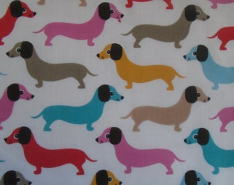76799ab624a9 Cute Sausage Dog Fabric PolyCotton - Sold in 1/2 meters