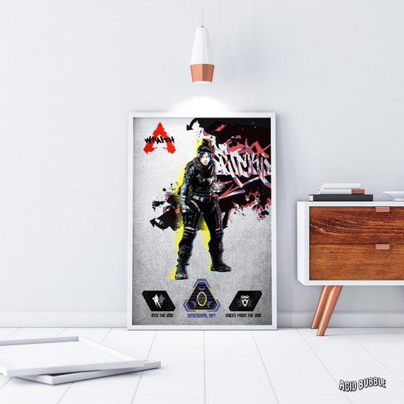 Apex Legends Wraith Poster Wall Decor Gibraltar Bangalore Lifeline Pathfinder Bloodhound Mirage Apex Legends Poster Birthday Prints