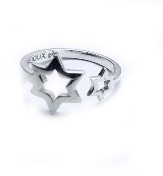 Sterling Silver STAR OF DAVID Jews JEWISH Ring SIZE 9