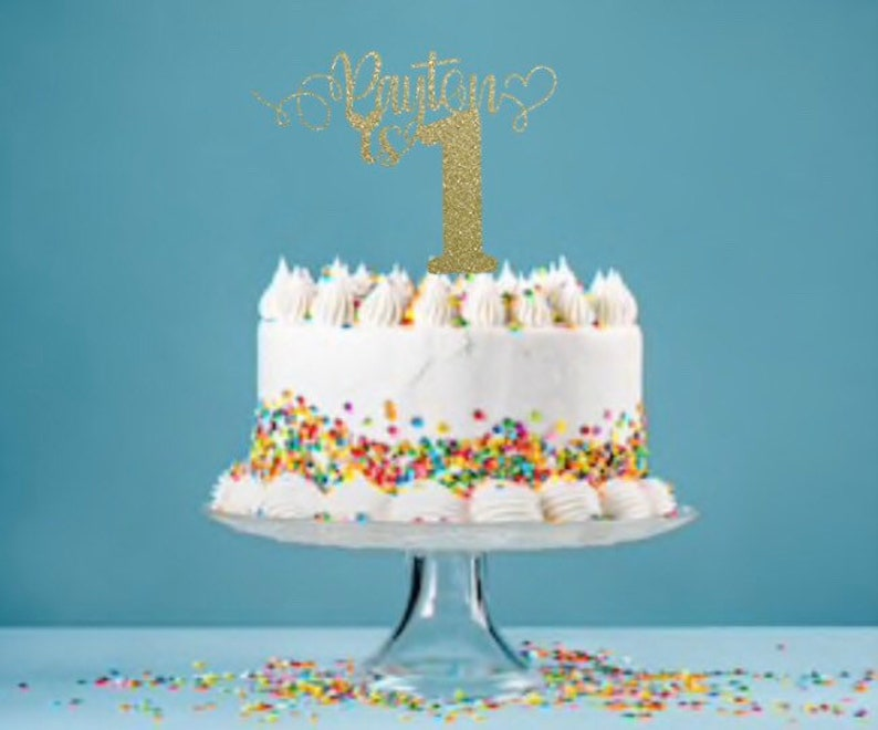 Personalized Name Birthday Cake Topper Custom