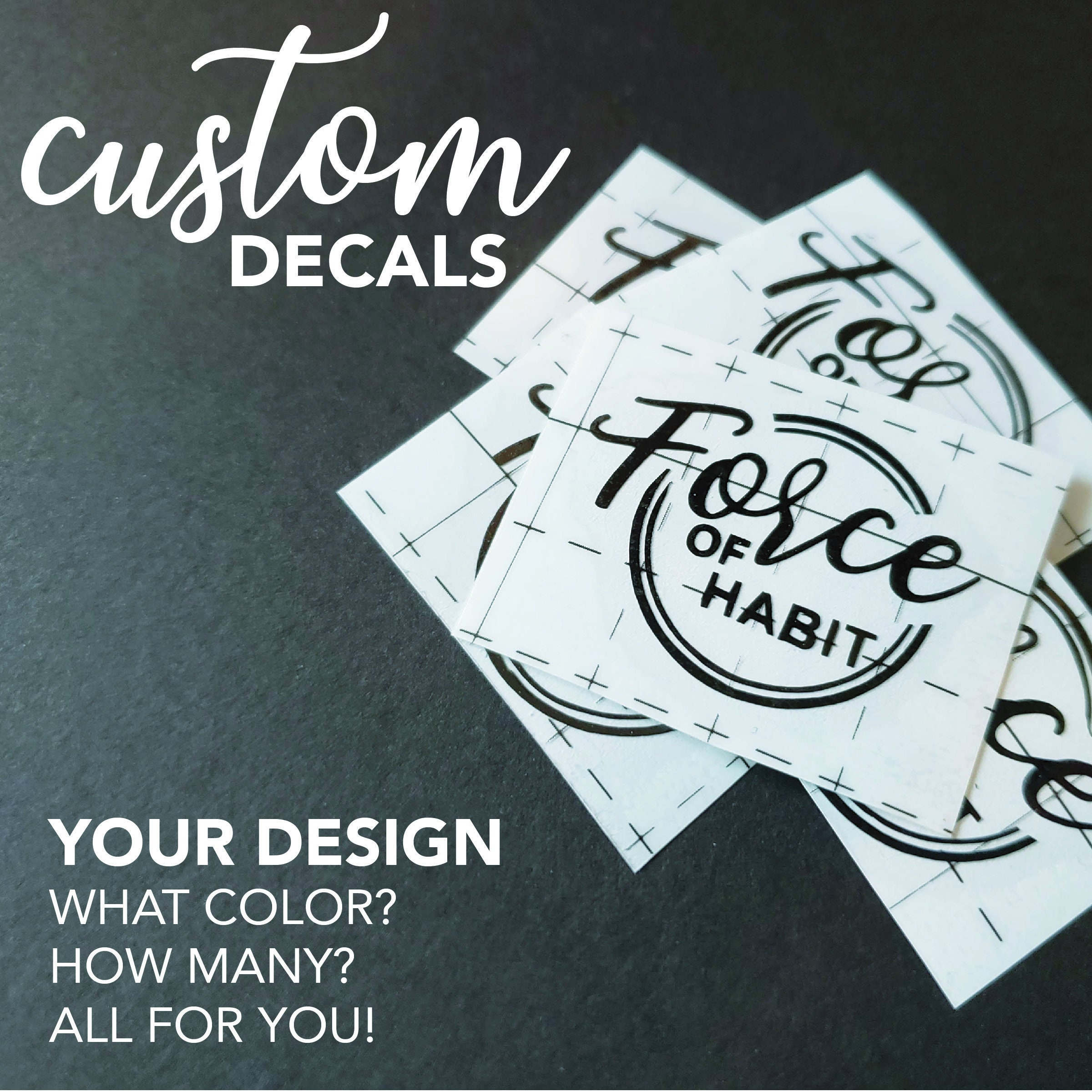 Custom decal custom vinyl decal create or design your own decal personalized decal car decal custom sticker