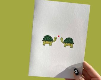 Turtles in Love Card