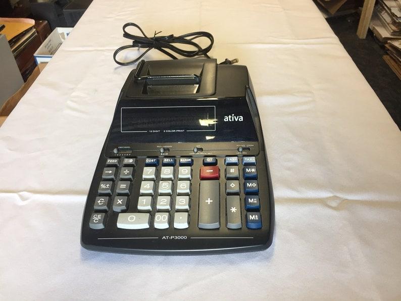 Ativa Digital Adding Machine / Calculator Model AT-P3000 (Please Read  Description)