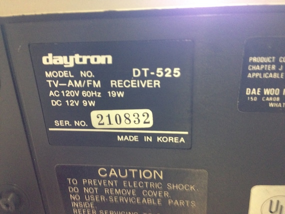Daytron TV - am/fm Receiver Model DT-525