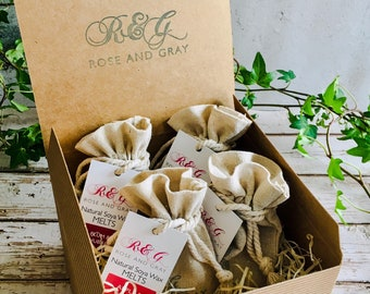 Scented Wax Melt Sample Box - Wax Melt Sets - Personalised Gift Card Option