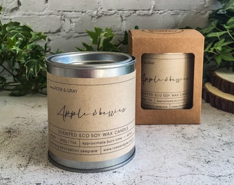 Apple & Berries Scented Candle | Quality Paint Pot Container Candle | Eco Soy Wax Candle | Handmade in UK
