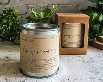 Ginger & Nutmeg Scented Candle | Quality Paint Pot Container Candle | Eco Soy Wax Candle | Handmade in UK