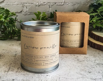 Luscious Vanilla Scented Candle | Quality Paint Pot Container Candle | Eco Soy Wax Candle | Handmade in UK