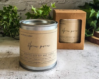 Hocus Pocus Scented Candle | Quality Paint Pot Container Candle | Eco Soy Wax Candle | Handmade in UK