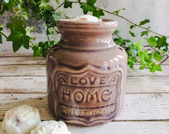Wax Melt & Burner Boxed Gift Set - Starter Set - Home Sweet Home Ceramic Burner - Lavender