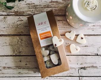 Mandarin & Sandalwood Scented Natural Soya Wax Melts - Boxed melts