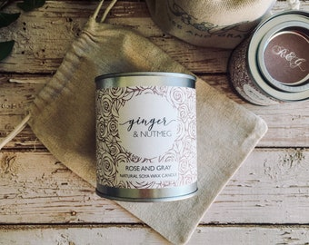 Ginger & Nutmeg Scented Natural Soya Wax Candle - Paint Pot Container Candle