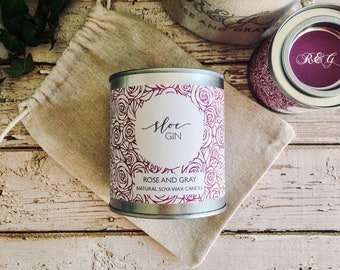 Sloe Gin Scented Natural Soya Wax Candle - Paint Pot Container Candle - Autumn/Winter Scents