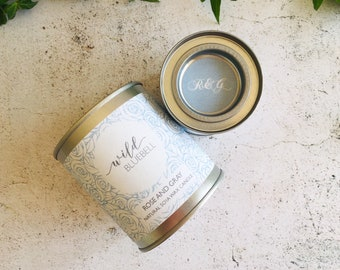 Wild Bluebell Scented Natural Soya Wax Candle - Paint Pot Container Candle