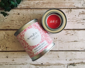 Winter Fireside Scented Natural Soya Wax Candle - Paint Pot Container Candle