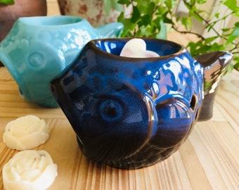 Wax Melt & Burner Gift Bag Set - Starter Set - Fish Ceramic Burner