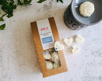 Wild Bluebell Scented Natural Soya Wax Melts - Boxed melts